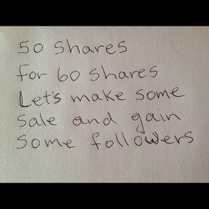 ♥️50 SHARES FOR 60 SHARES♥️LET'S MAKE SOME SALES♥️